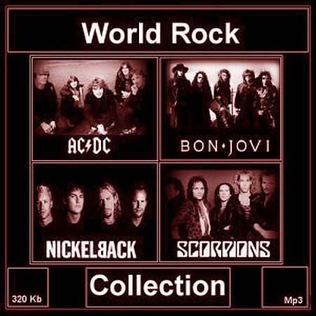 скачать AC/DC, Bon Jove, Nickel back, Scorpions - World Rock Collection (2014) бесплатно
